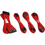 Antec Mod Sleeved Power Supply Cable Extension Kit ATX/EPS 8-pin PCI-E/6-pin w/Combs red 500mm