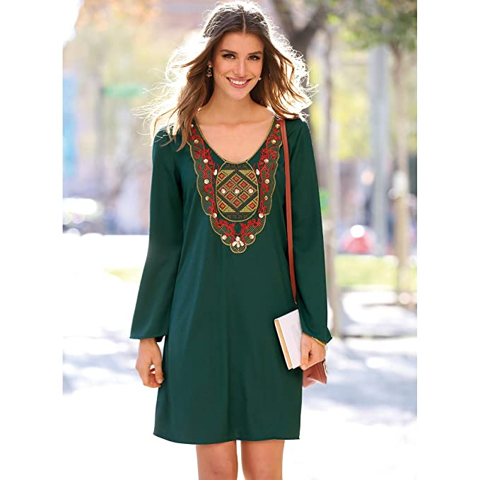 Vestido verde botella amazon