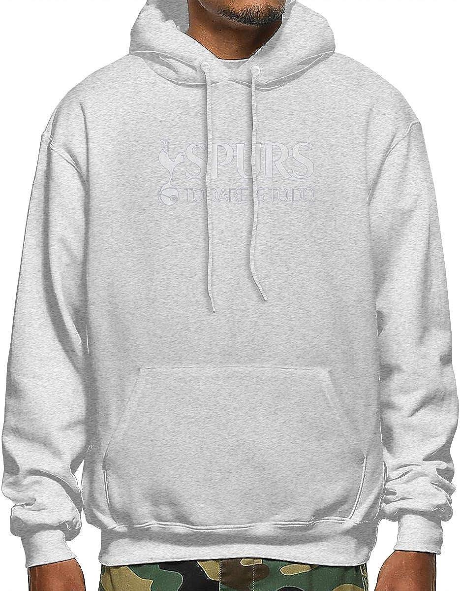 Honshang Black Hoodies Hood Popular Sweatshirt for Man Tottenham Hotspur Spurs to Dare is to Do