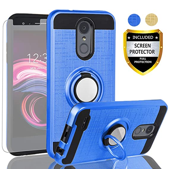 LG Aristo 3 Case,LG Aristo 2 X210/Aristo 2 Plus/Tribute Dynasty/Zone  4/Fortune 2/K8 2018/LG Rebel 3 LTE Case with HD Screen Protector,AYMECL 360