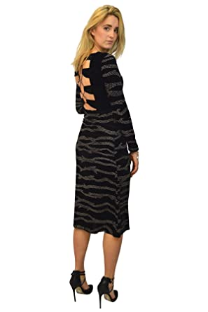 Topshop Black Gold Swirl Velvet Maxi Dress Size 6 Black