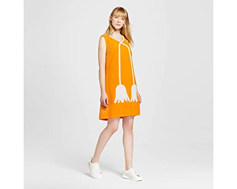 87091088f914 Victoria Beckham for Target Women s Marigold Tulips Mod Shift Dress ...