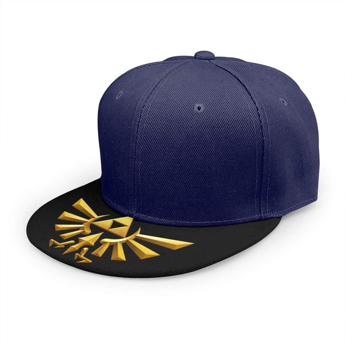 Adjustable Women Men The-Legend-of-Zelda Print Baseball Cap Flat Brim Cap Hats Hip Hop Snapback Sun Hat Boys Girls Navy by Apolonia