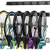 Bike Storage Rack, 6 Bike Hooks for Garage Space-Saving, Heavy Duty Bike Wall Mount Parking Storage Rack Holds Up to…