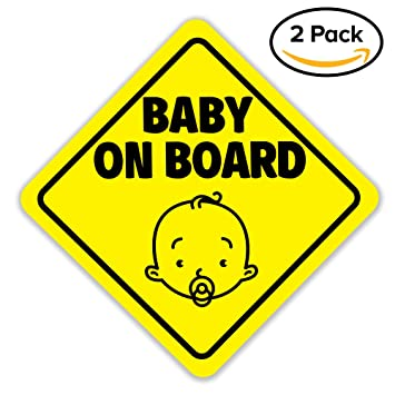 Amazoncom Baby On Board Sign Magnet For Car Magnetic And