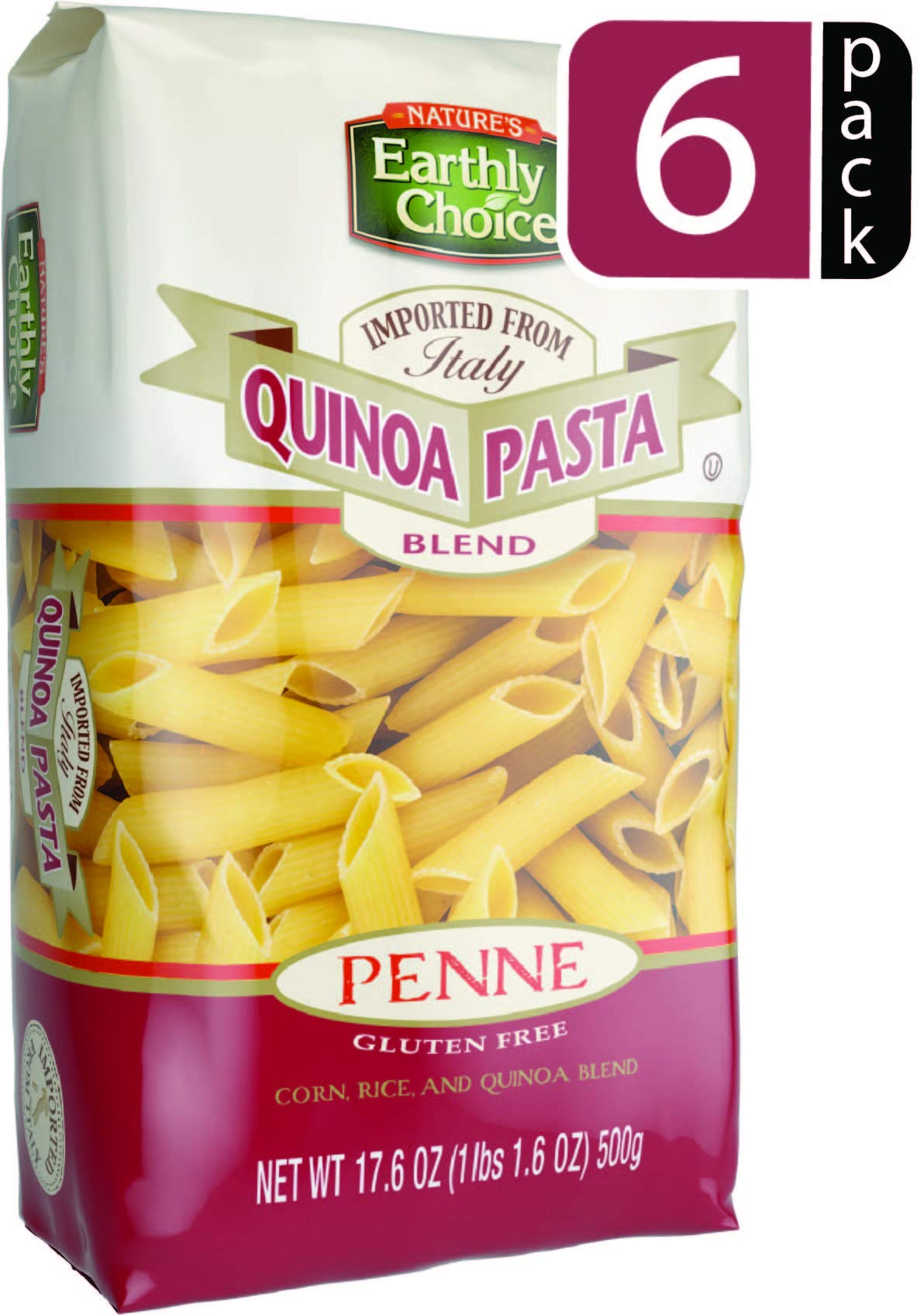 Nature's Earthly Choice Quinoa Pasta Blend, Penne, 17.6 Ounce (Pack of 6) by Nature's Earthly Choice