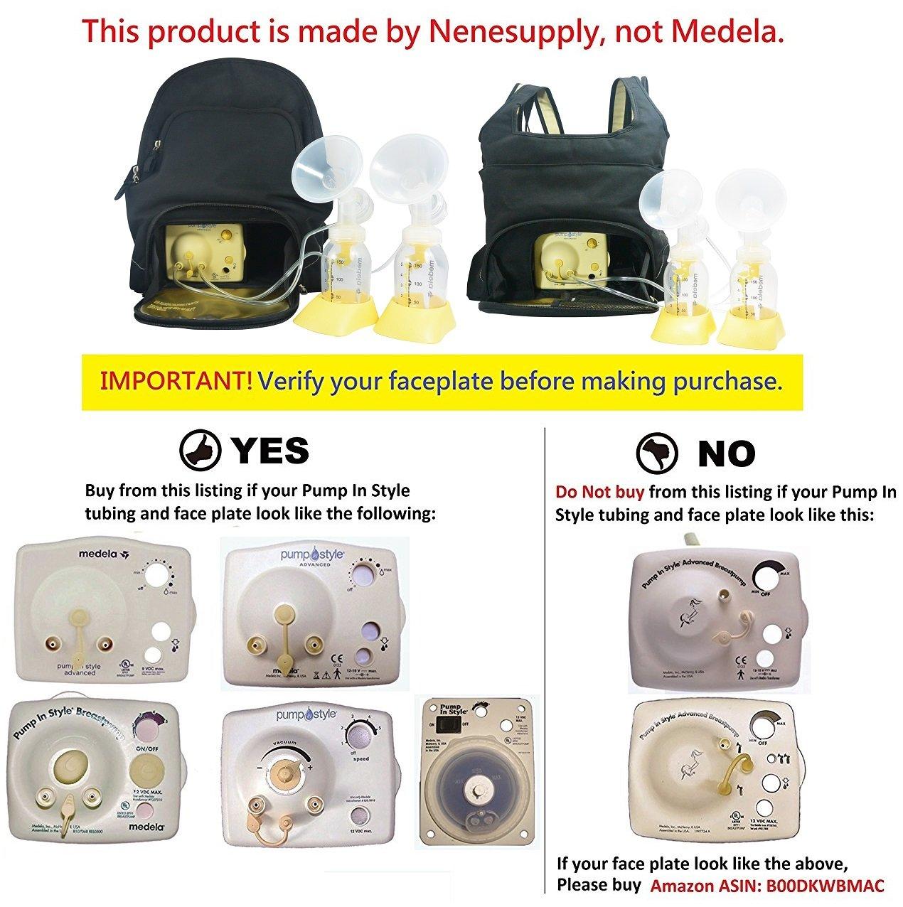 Nenesupply Compatible Pump Parts for Medela Pump In Style Breastpump 2 Small 21mm Breastshield 2 Valve 4 Membrane 2 Tubing Not Original Medela Pump Parts Not Original Medela Breastshield by NENESUPPLY (Image #3)