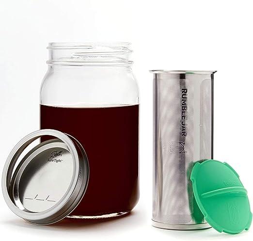 Rumble Jar - Next-Gen Cafetera de infusión en frío para frasco de ...