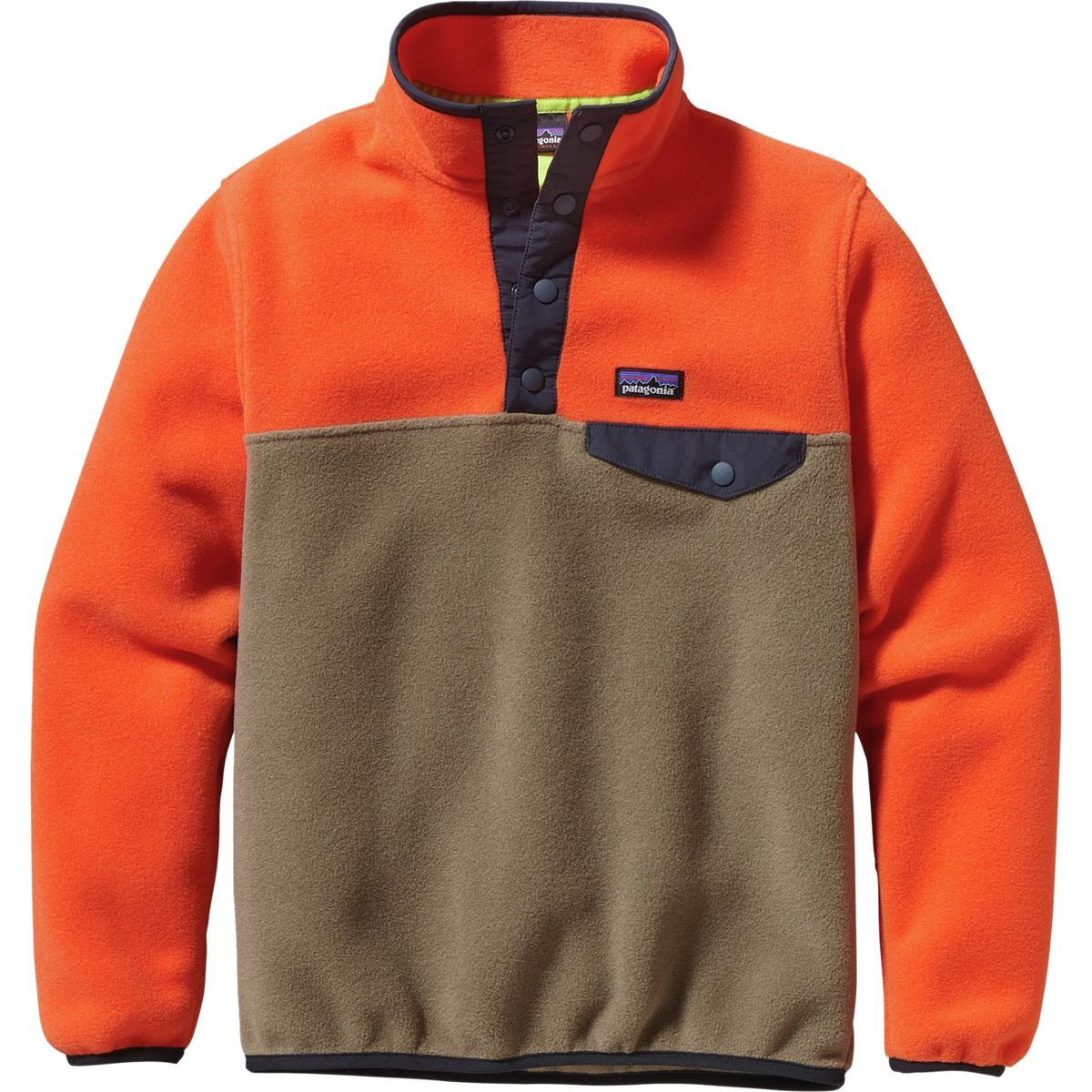 Patagonia Lightweight Synchilla Snap-T Fleece Pullover - Boys' Ash Tan, XL by Patagonia