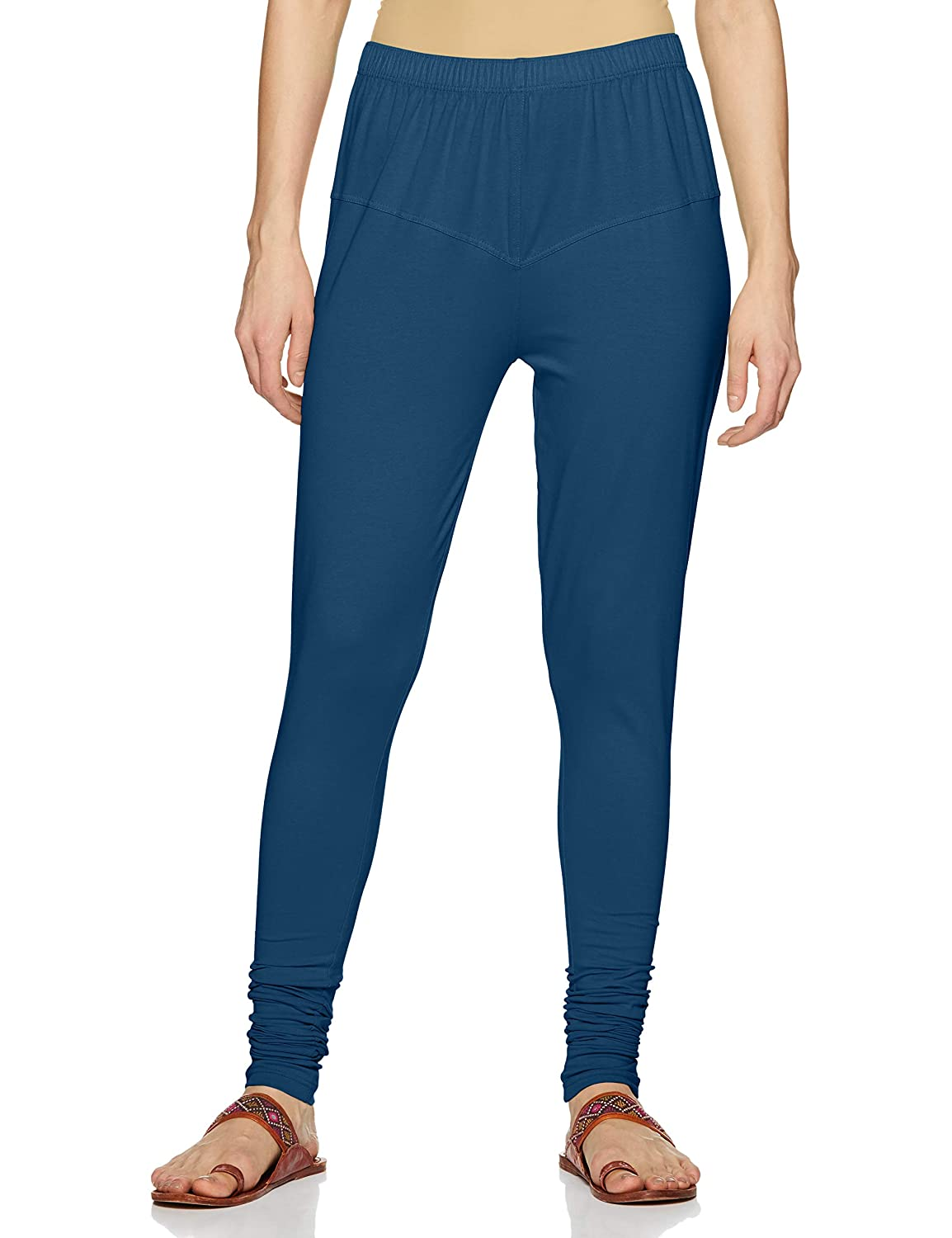 LUX LYRA Women's Leggings Silk_64_Ocean Blue_Free Size