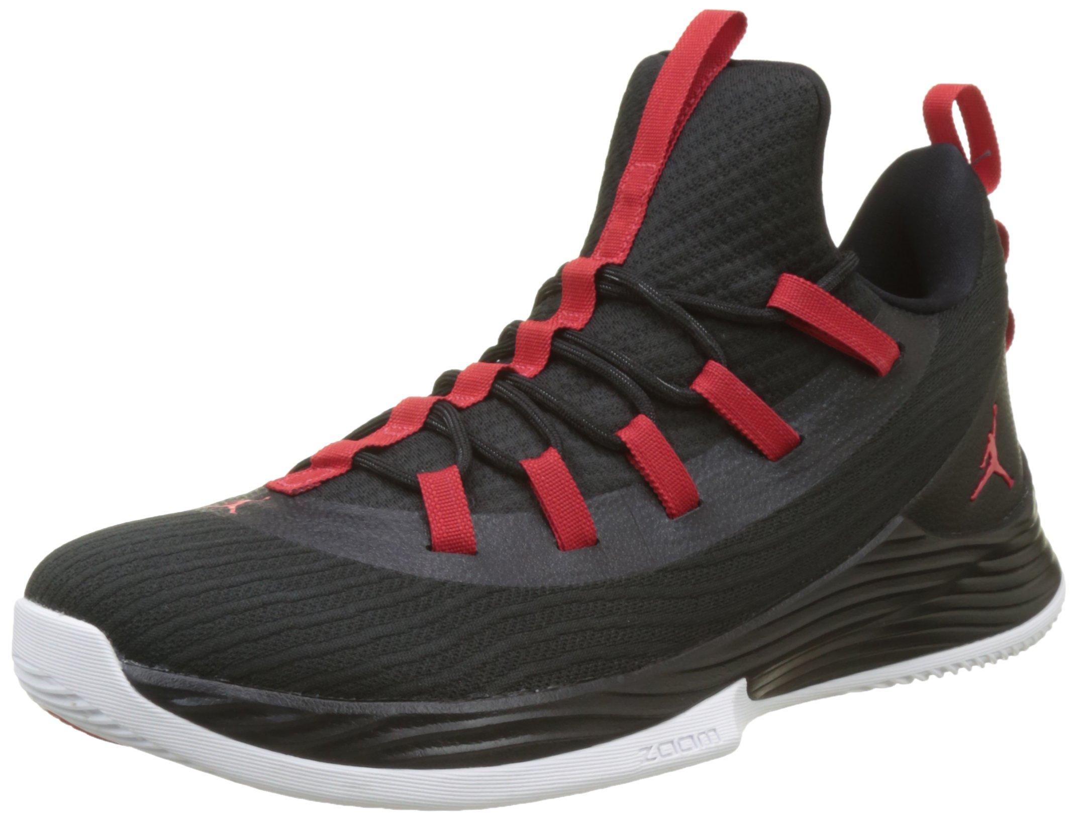 Jordan Nike Men's Ultra Fly 2 Low Black/University Red White Basketball Shoe 10 Men US