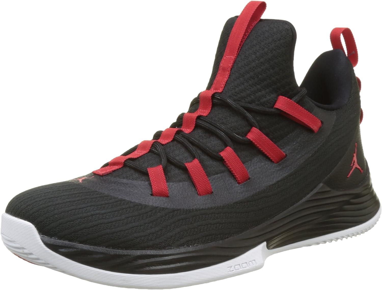 Nike Air Jordan Ultra Fly 2 Low Mens Basketball Trainers Ah8110 Sneakers Shoes 黒/University 赤 白い 13 D(M) US