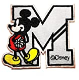 Mickey Mouse Letter M patch Iron on Logo Vest
