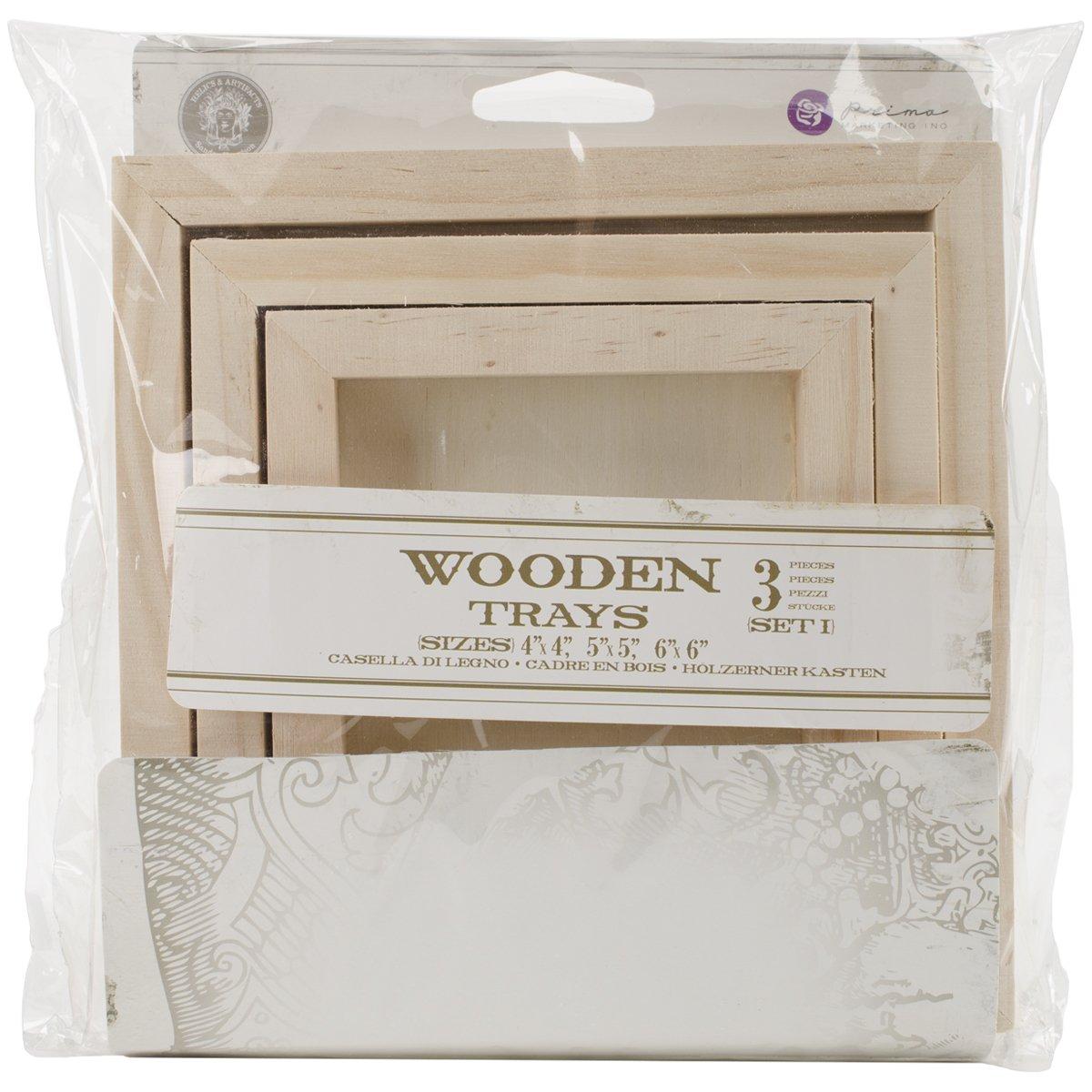 Wooden Tray Set 1