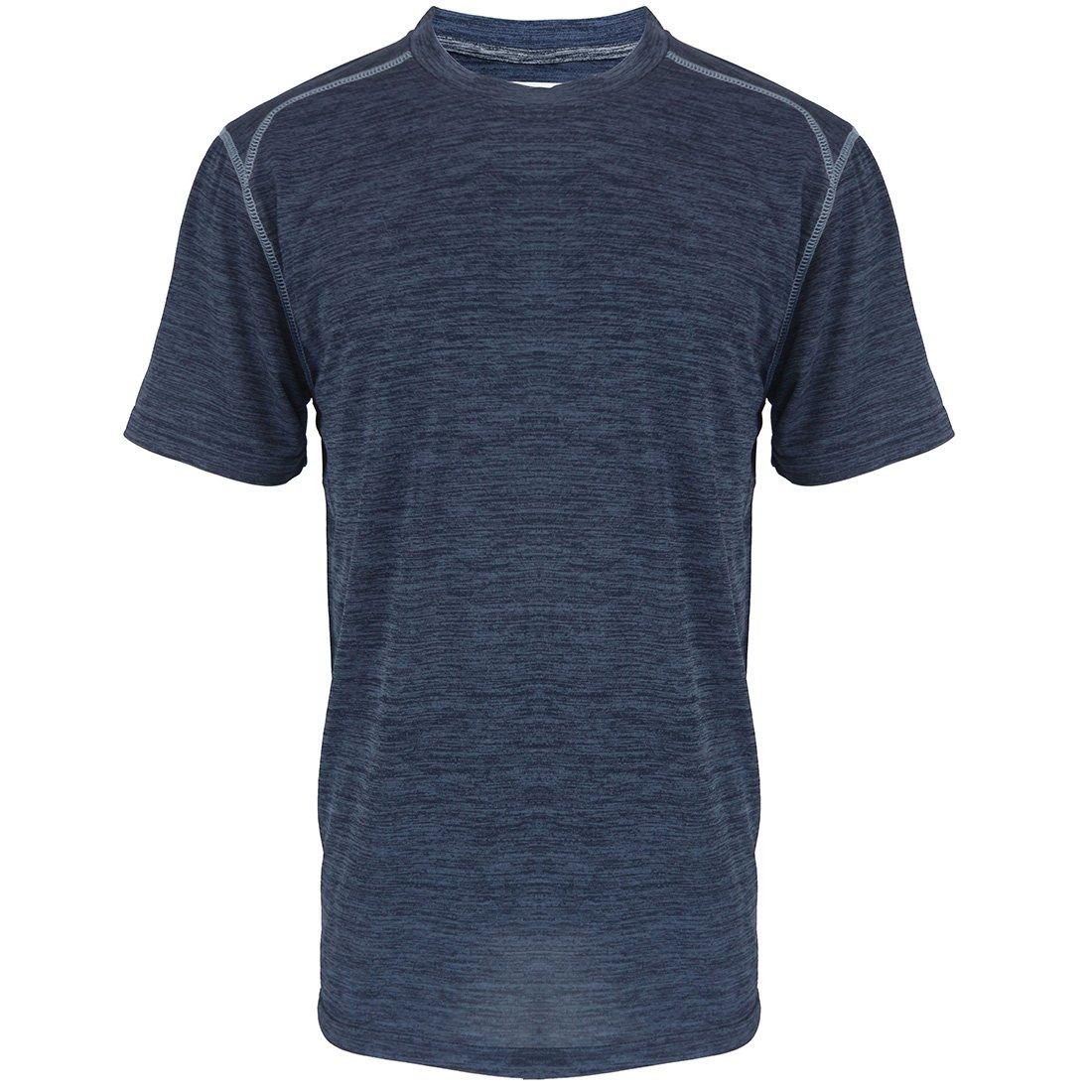 Gary Com Marled Short Sleeve T Shirts For Men Fashion Elastic Good Mens T-Shirts O Crew Neck Casual Work Tee
