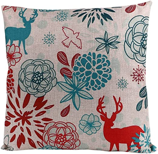Black White Linen Vintage Throw Cushion Cover Pillow Case Waist Home Sofa Decor