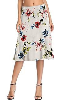 Amazon.com: KEN.SANDORA - Falda de verano para mujer, color ...