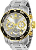 Invicta Watches, Men's Pro Diver Chronograph Silver Dial Stainless Steel, Model 80040