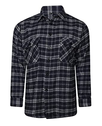649e18eae4c1 Elum® Mens Check Printed Long Sleeves Collared T-Shirt  Amazon.co.uk ...