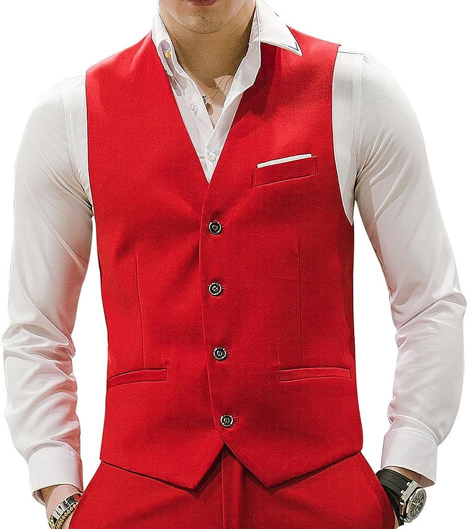 MOGU Mens Waistcoat Casual Suit Vest 22 Colors for Prom Party