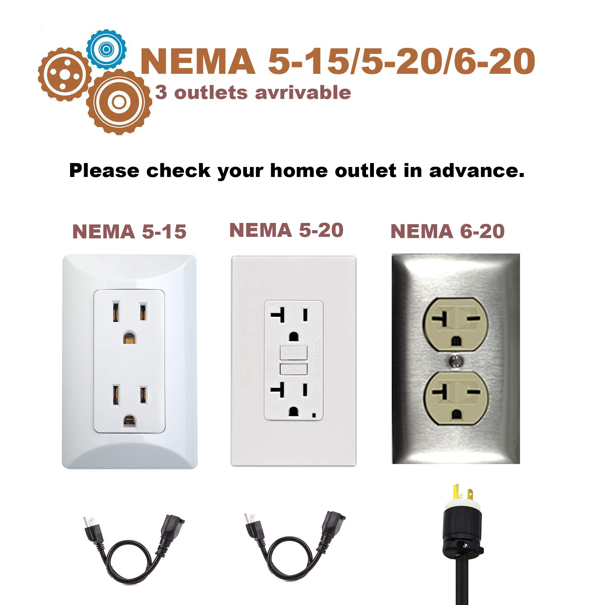 POTATO EV Charger, Level 2 Electric Vehicle Charging Station, NEMA6-20 Plug with Adapter for Level 1 (NEMA5-15,100-240V 3.8KW) Compatible with All EV Cars by POTATO (Image #7)