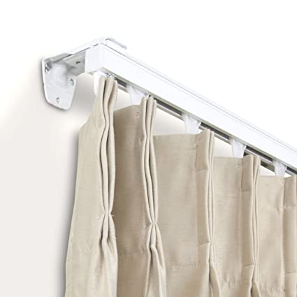 A F Rod Decor Curtain Track Room Divider Kit 48 Inch Wall Mount White