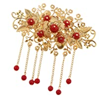 Fityle Retro Chinese Dress Bridal Wedding Party Prom Crown Hair Comb Slide Head Accessories