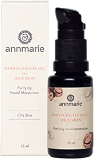 product image for Annmarie Skin Care Herbal Facial Oil for Oily Skin - Purifying Moisturizer with Black Cumin Seed Oil, Hazelnut Oil + White Willow Bark (15 Milliliters, 0.5 Fluid Ounces)