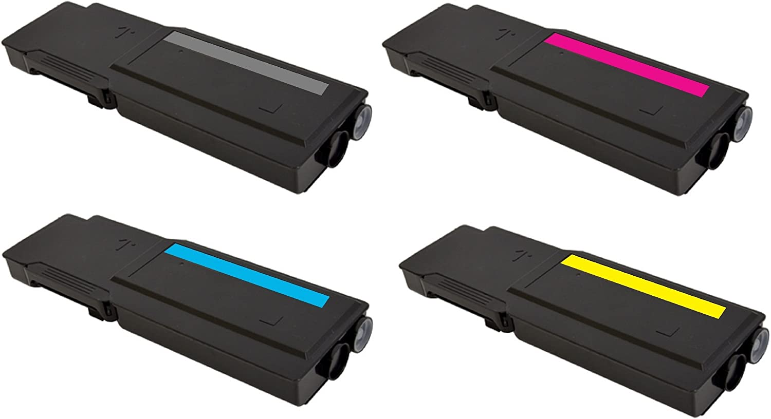 106R02243 WorkCentre 6605 4 Color Toner Set 106R02225 106R02226 106R02227 106R02228 106R02244 106R02241 Pegasus Compatible Replacement for Xerox Phaser 6600 106R02242