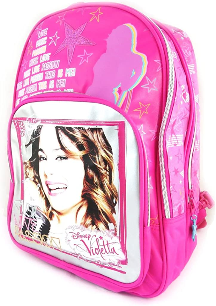 Backpack Violetta'silver rose double compartments .