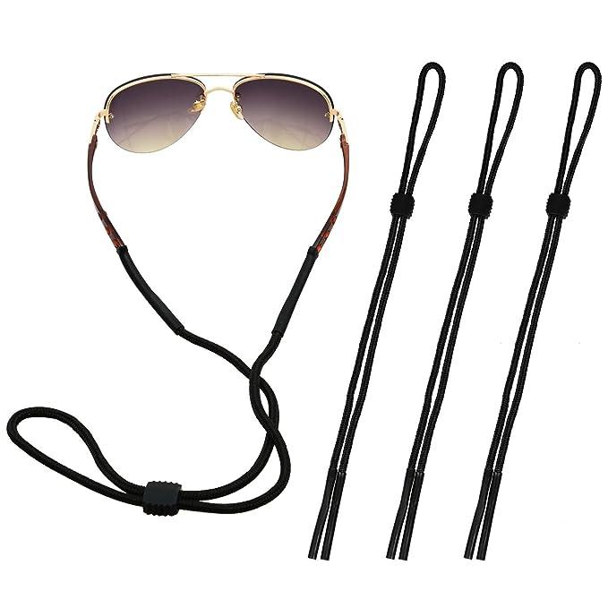 The Friendly Swede Juego de 4Gafas bandas–Ideal como gafas banda para gafas de lectura, deportes gafas o gafas de sol, negro