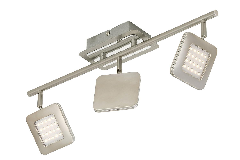 LED Deckenleuchte, 2874-032 Deckenstrahler, Spot, LED Platine, 3 x 4,5 W, 450 Lumen, dreh- und schwenkbar, matt-nickel