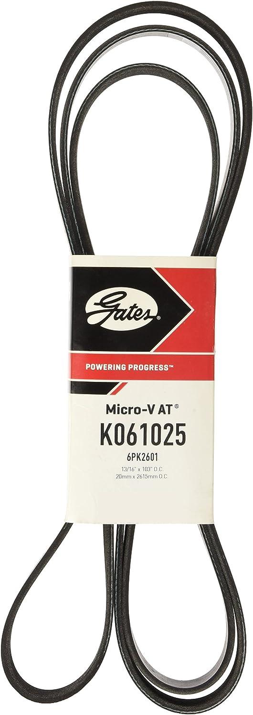 Gates K061025 (6PK2601) V-Groove Belt: Automotive