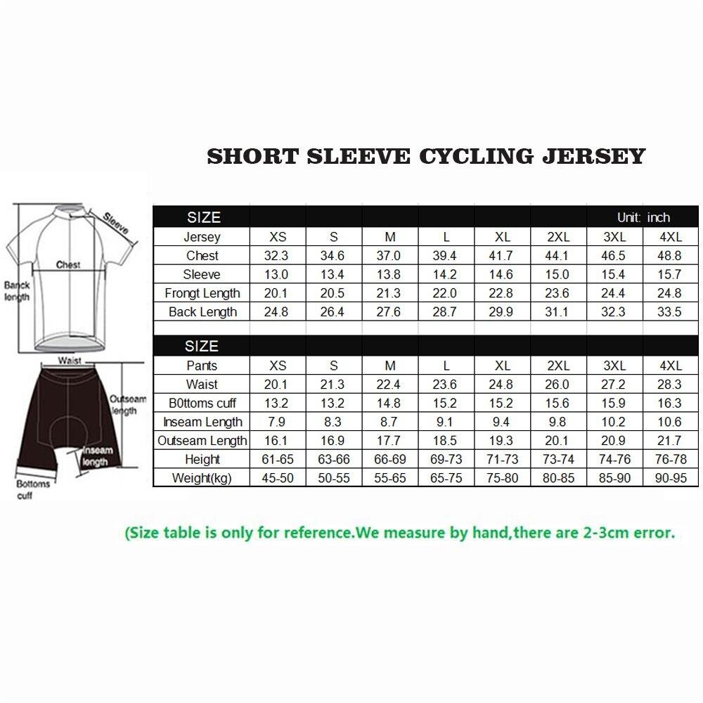 Wulibike Abbigliamento Bici Uomo Estivo Set Maglia Ciclismo Uomo e Salopette Ciclismo Uomo Gel 3D