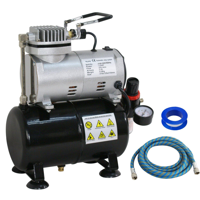 Zeny Airbrush Air Tank Compressor Regulator Filter Hose 3L Tank (TC-20T)