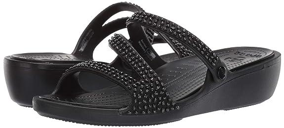 f2cb896f6 Amazon.com  Crocs Women s Patricia Diamante Sandal Slide  Shoes