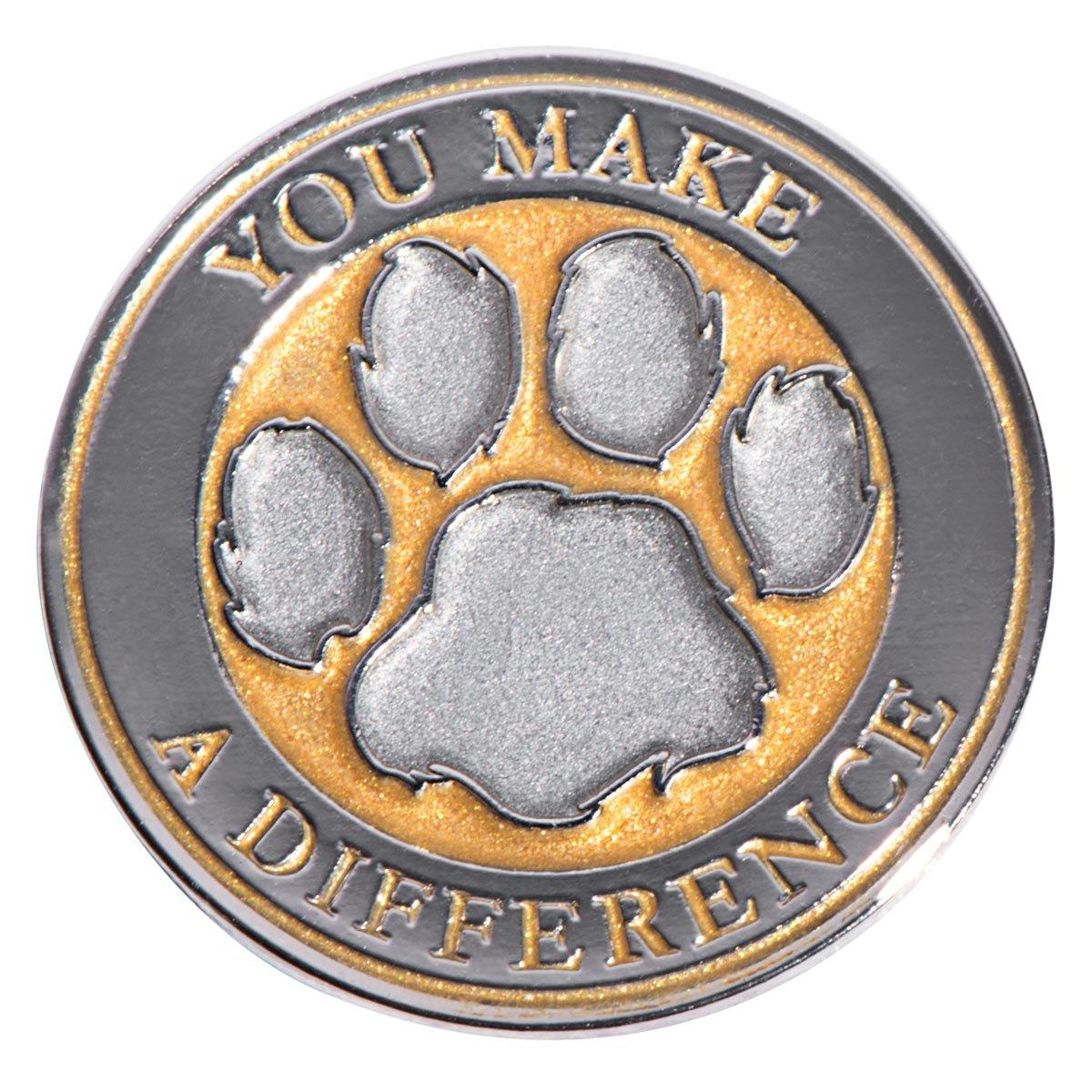 You Make a Difference Gold Appreciation Award Lapel Pins, 12 Pins