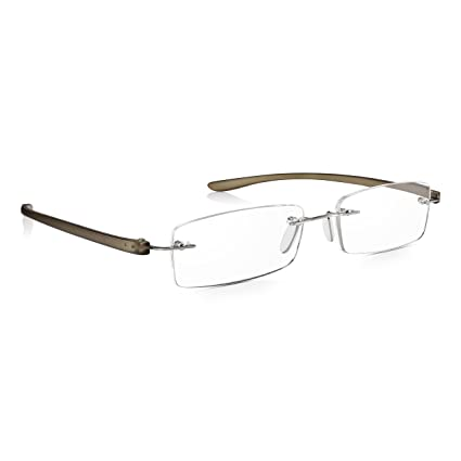 Read Optics Gafas Hombre/Mujer de Lectura Sin Montura: Lentes Graduadas +1.5 Dioptrías para Presbicia con Sistema SecureLoc Patentado – Varillas ...