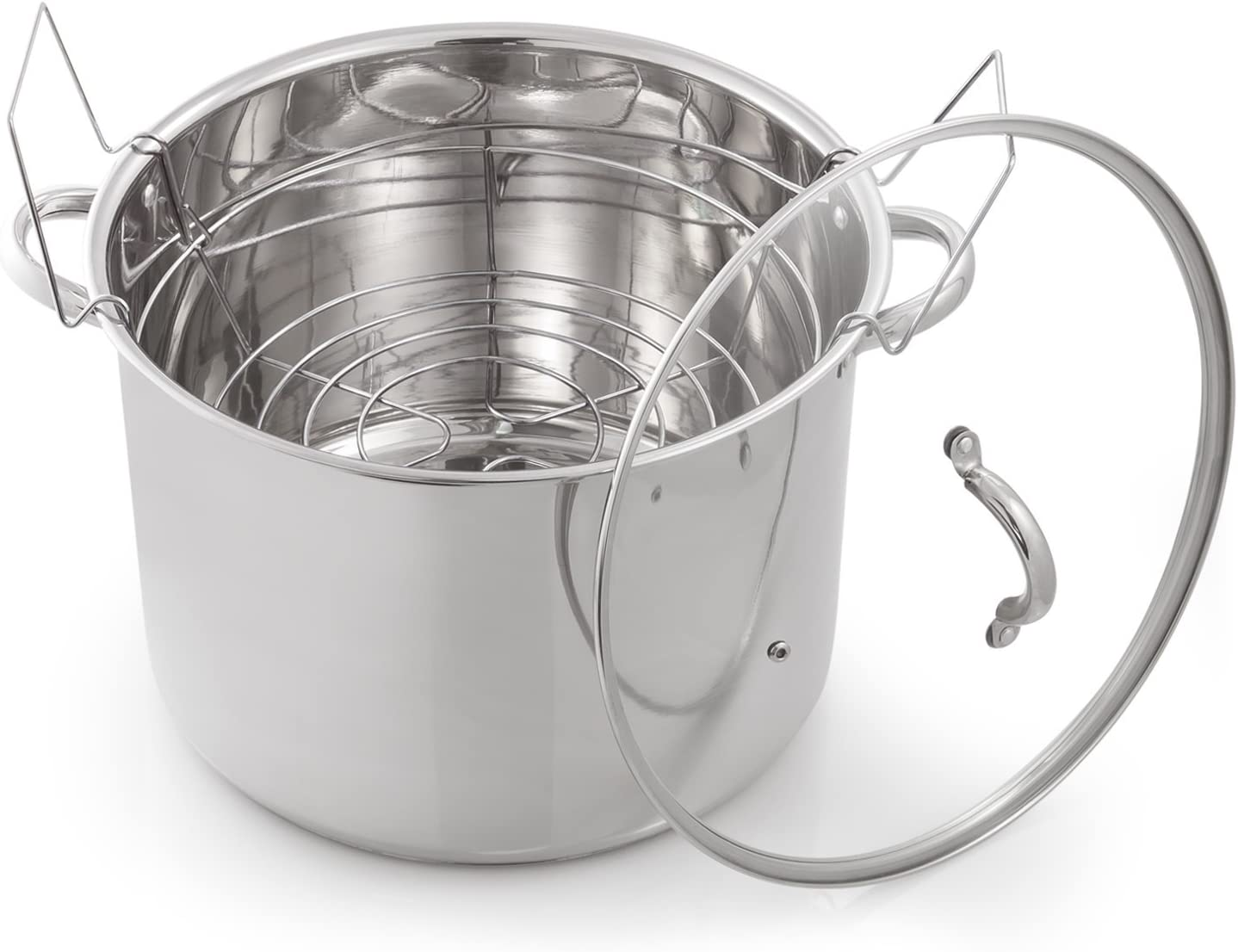 McSunley Medium Stainless Steel Prep N Cook Water Bath Canner, 21.5 quart, Silver