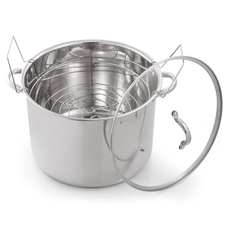 McSunley 620 Medium Stainless Steel Prep N Cook Water Bath Canner, 21.5 Quart, Silver