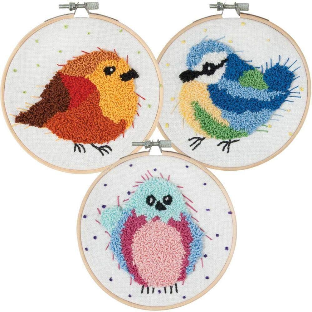 Craftways/® Bird Trio Punch Needle Kit