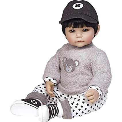 e08118a965 Image Unavailable. Image not available for. Color  Adora Toddler Bubba Bear  20 quot  Boy Weighted Doll Gift Set for Children 6+