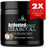 Teeth Whitening Charcoal Powder made from Activated Organic Coconut Shell – Eliminates Bad Breath, Coffee & Tea Stains, Oral Germs – 2 x FREE Activated Charcoal Strips Bonus