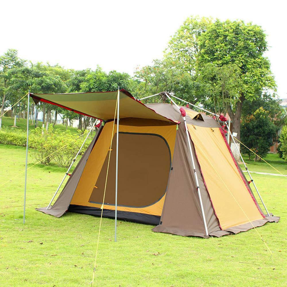 Lxj Outdoor-Zelt Aluminium Pole kostenlose automatische Zelt Outdoor 2 Personen 3 Personen 4 Luft-Verteidigung-Regen-atmungsaktiv Familie Camping Doub Le Zelt 270  210  h170cm