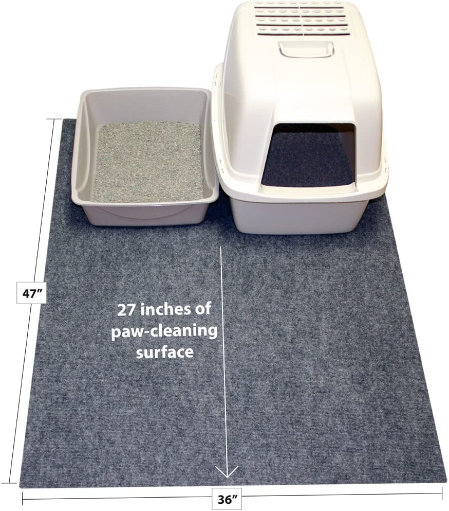 Soft Material for Paws Drymate Cat Litter Mat Safe Kitty Litter Mats Machine Washable Reduces Litter Tracking 100/% Phthalate Free and BPA Free