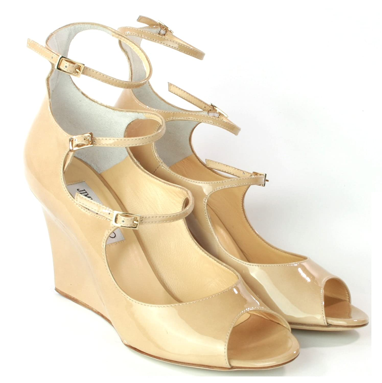 3b2d5c02e3f Jimmy Choo Gali Nude Patent Leather Shoes Size 5.5 RRP £450: Amazon ...