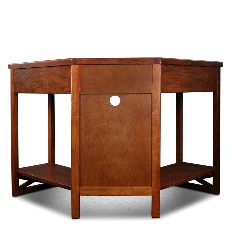 Amazon.com: Leick Corner Computer And Writing Desk, Oak Finish: Kitchen U0026  Dining