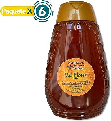 Paquete x 6 - Miel de Mil Flores - 500 gr x Botella. Miel natural ...