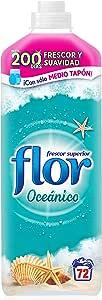 Flor Frescor Oceánico - Suavizante Concentrado para la Ropa, 72 Lavados