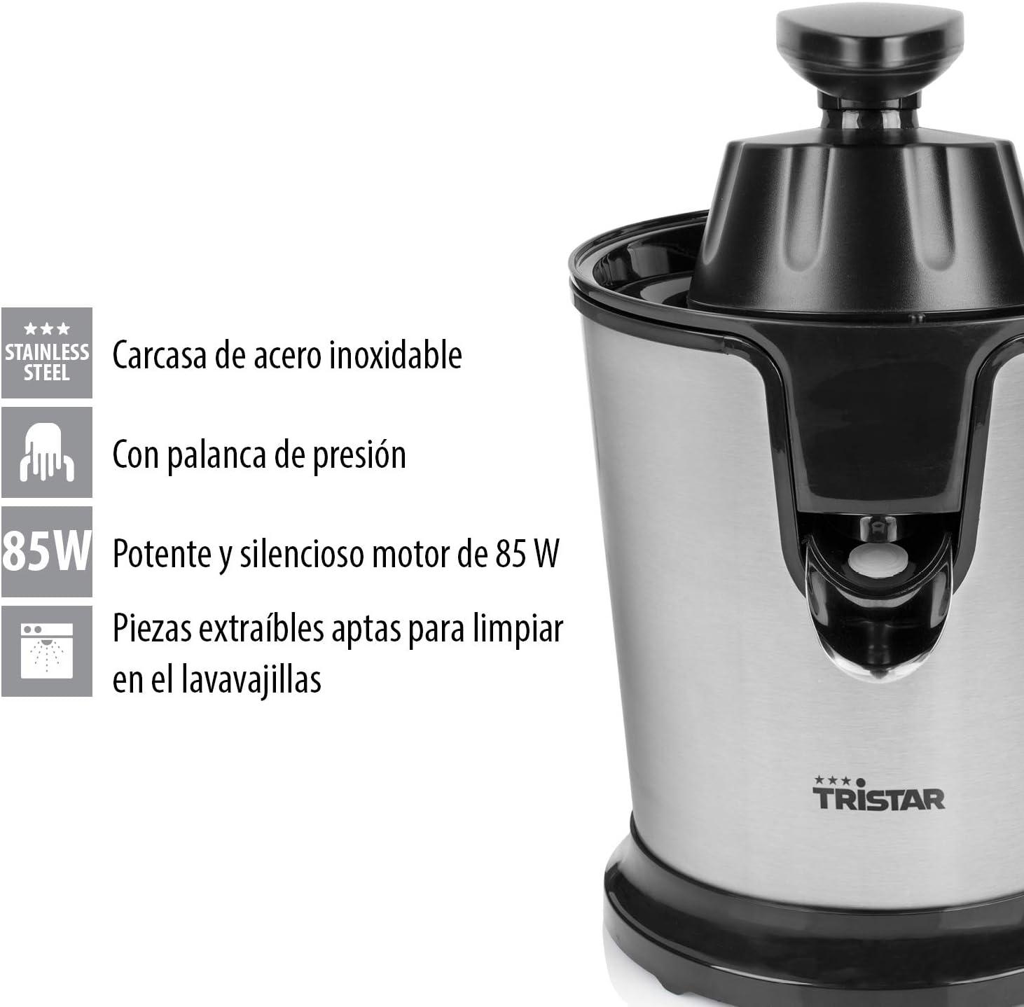 Tristar CP-3002 - Exprimidor, 85 W, motor silencioso, palanca de ...